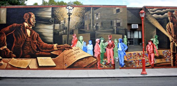 Philadephia mural Mapping Courage