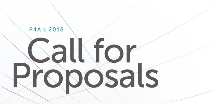 P4A 2018 Call for Proposals
